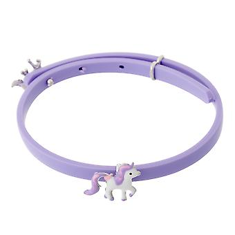 Orphelia Silver 925 Kids Bracelet Rubber W/ Horse Adjustable  ZA-7156/LILA
