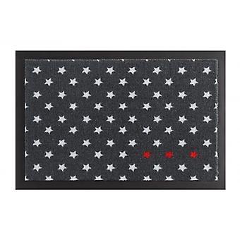 Paillasson saleté trappage coussin étoile anthracite rouge blanc 40 x 60 cm
