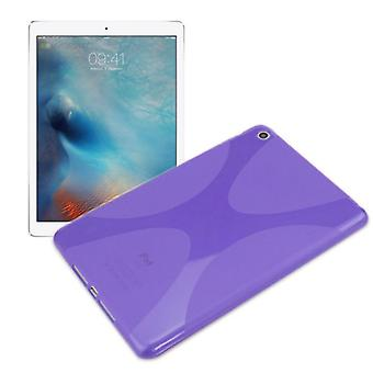 Protective cover silicone X-line series purple case cover for Apple iPad Pro 12.9 inch