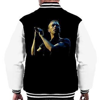 Chris Martin Coldplay BBC Radio 1s groot Weekend 2014 mannen Varsity Jacket