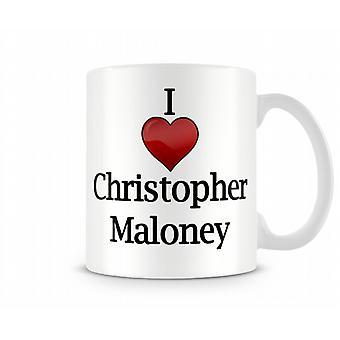 Я люблю Крис Maloney печатных кружка