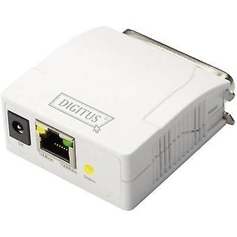 Digitus DN-13001-1 Sieciowy serwer wydruku LAN (10/100 Mb/s), równoległy (IEEE 1284)
