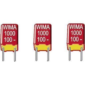 WIMA FKS2D011001A00KSSD 1 st (s) FKS tunnfilms kondeneller Radial bly 1000 pF 100 V DC 20% 5 mm (L x b x H) 7,2 x 2,5 x 6,5 mm