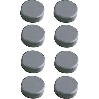 Maul Magnet MAULpro (Ø x H) 15 mm x 7 mm Round, Facet edge Grey 8 pc(s) 6175284