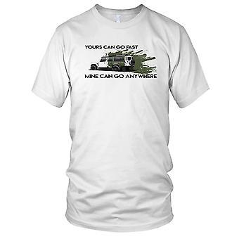 Land Rover Defender din kan gå fort min kan gå hvor som helst 4 x 4 Mens T skjorte