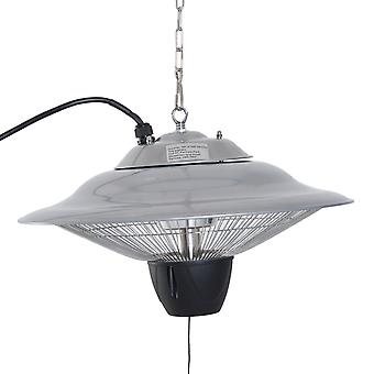 Outsunny Aluminium Patio Heater Ceiling Hanging 1500W Halogen Pull Switch Electric 240V Silver