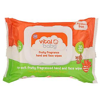 Vital Baby Fruity Hand and Face Wipes
