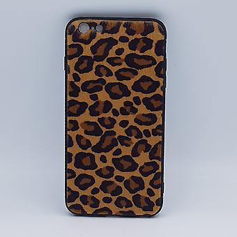 iPhone 6 Plus caso-Leopard look-soffici-giallo