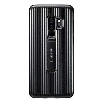 S9 Samsung Galaxy Plus protector cubierta de negro de pie