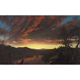 Twilight in the Wilderness, Frederic E. Church, 60x40cm