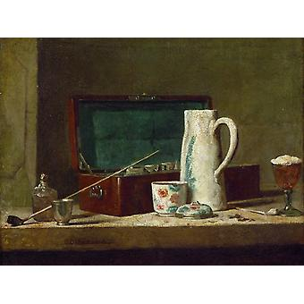 Still-Life With Pipe an, Jean-Baptiste-Simeon Chardin, 32,5 x40cm
