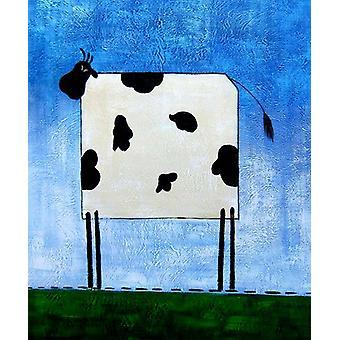 Una mucca, pittura ad olio su tela, 50x60 cm