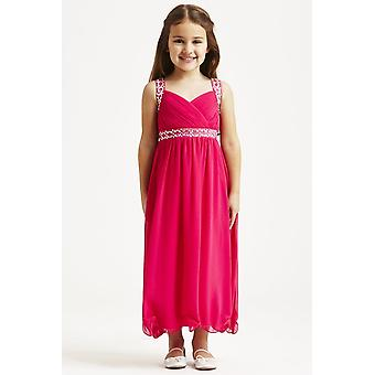 小さなピンクの MisDress トラップ ドレスを飾った