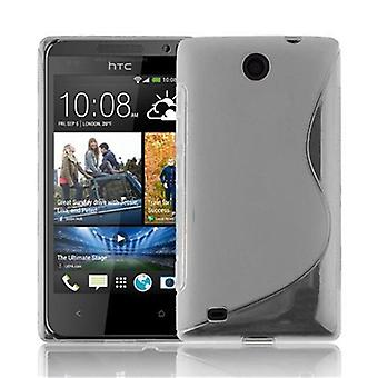 Cadorabo caso para HTC Desire 300 caso capa-telefone móvel caso feito de silicone flexível TPU-capa de silicone caso protetor ultra slim macio tampa traseira caso pára-choques