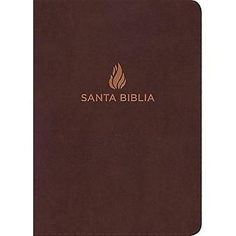 Rvr 1960 Biblia Letra Super Gigante Marron, Piel Fabricada Con Indice