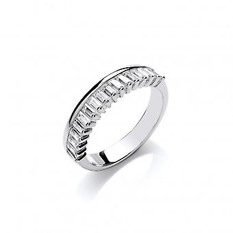 Cavendish French Silver and Baguette Cut CZ Ring