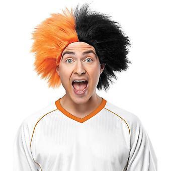 Wig For Sports Fun Orange Black