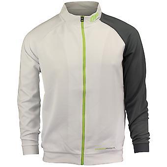 MusclePharm Mens MP Trainer Jacket - White/Gray/Green