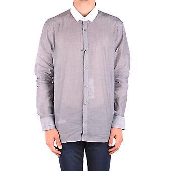 Neil Barrett Ezbc058052 Men's Camisa de Algodão Cinza