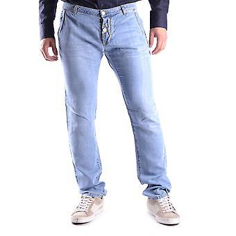 Cesare Paciotti Ezbc112001 Men's Blue Cotton Jeans