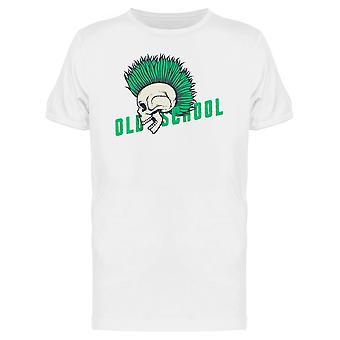 Old-School Punk-Skull T-Shirt Herren-Bild von Shutterstock