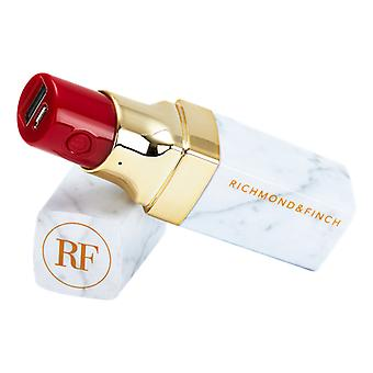 Richmond & Finch Lipstick Power Bank, incl. Lightning, micro-USB & USB-C-kabel