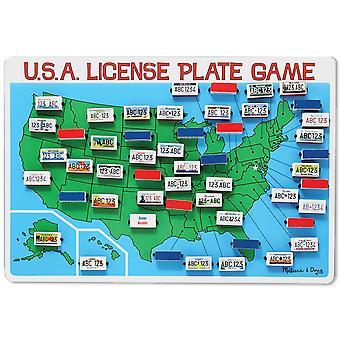 U.S.A. License Plate Game-