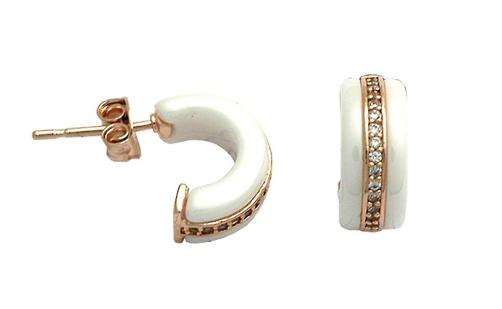 Ah! Jewellery Ceramic Crystals from Swarovski Half Hoop Earrings