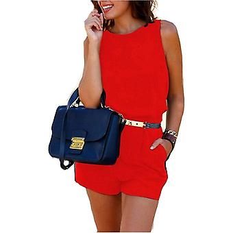 Womens vibrant bright colour shorts belt