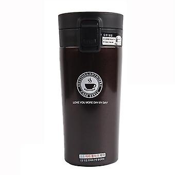 Thermos in stainless steel, 380 ml-brown