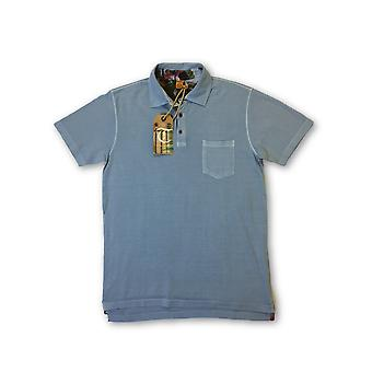 Tailor Vintage 3 button polo in blue