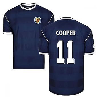 Score Draw Scotland 1986 Retro Football Shirt (Cooper 11)