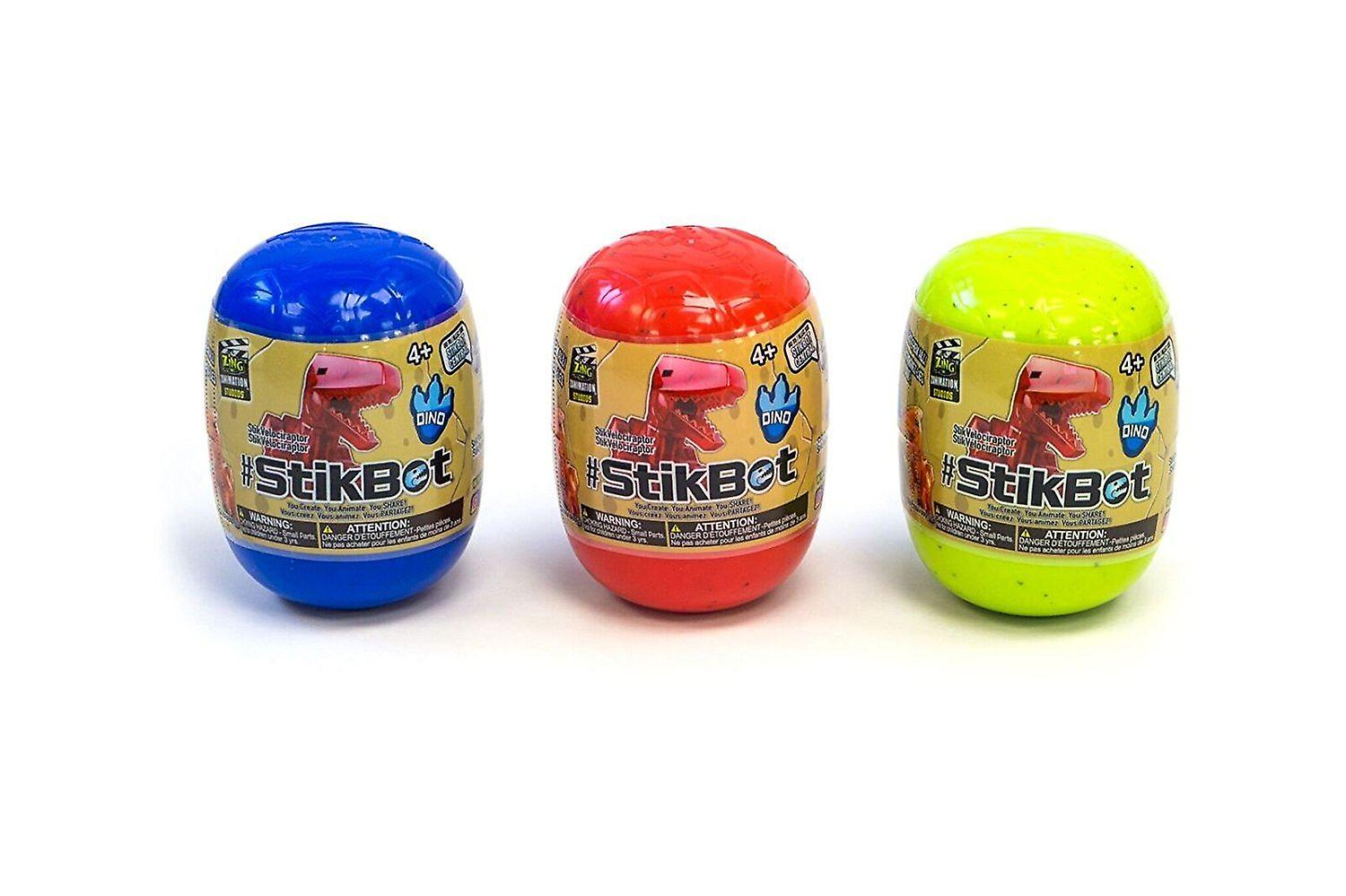 Stikbot Dino Eggs (colours And Styles May Vary)