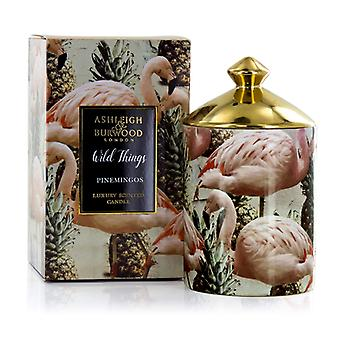 Ashleigh & Burwood Wild Things Luxury Scented Candle Pinemingos - Coconut & Lychee