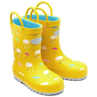 Chipmunks Girls Rain Wellingtons Yellow
