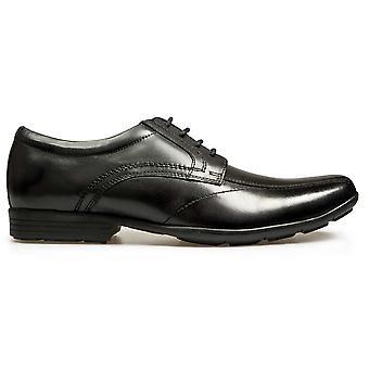 POD Boys Angus Lace School Shoes Black