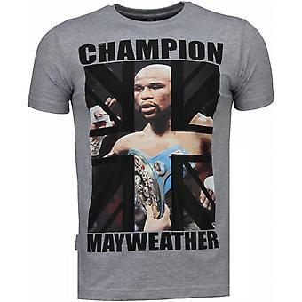 Mayweather-rhinestone T-shirt-grå