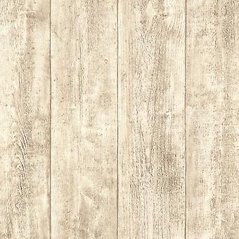 A.S. Creation AS Creation Wooden Beam Pattern Wallpaper Faux Wood Effect Embossed Panel 708830