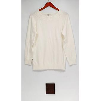 Liz Claiborne New York Sweater Pullover Sweater w/ White A268717