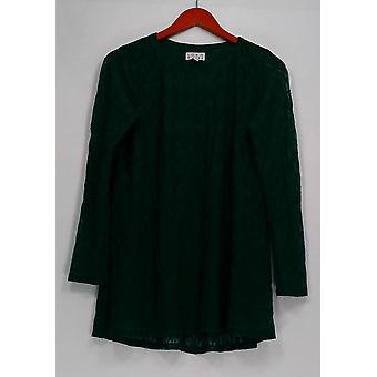 Joan Rivers Classics Collection Top Lace Detail Long Sleeve Green A258399