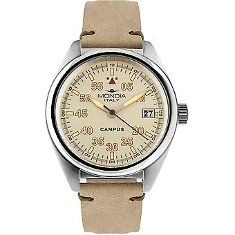 Mondia Campus Guardian Watch for Japanese Quartz Analog Man with Mi748-2CP Cowskin Bracelet
