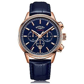 Rotary | Men's Cambridge Chronograph | Blue Dial | Blue Leather | GS05399/05 Watch