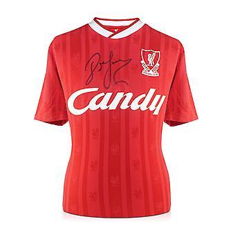 John Barnes ondertekend 1988 / 89 Liverpool thuis Shirt