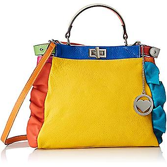 Ccacca Bags Cbc34021tar Multicolored Women's Handbag (Yellow/Green Aqua) 12x26x32 cm (W x H x L)