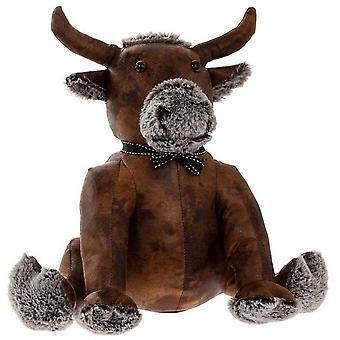 Faux Leather Bull Doorstop