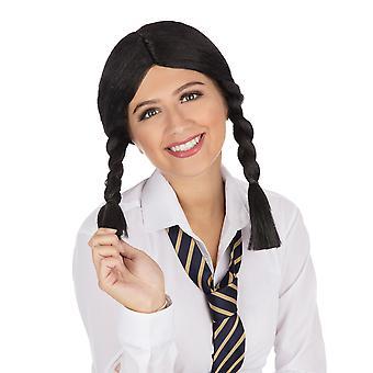 Bristol Novelty Womens/Ladies Plaited Schoolgirl Wig