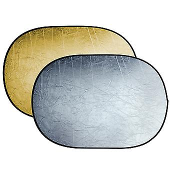 BRESSER BR-TR5 reflector plegable oro / plata 120x180cm