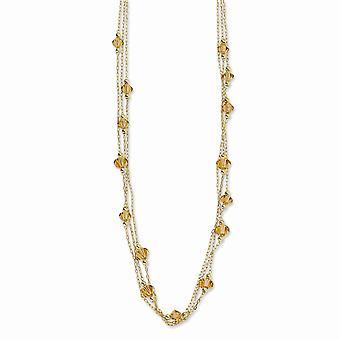 Gold-Ton Fancy Hummer Verschluss Licht Colorado Kristall 16inch mit Ext Halskette Schmuck Geschenke für Frauen