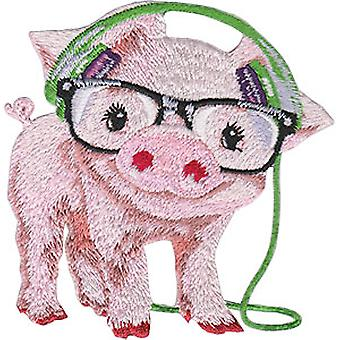 Patch - Animal Club - Pig Iron-On New Gifts Toys p-4487