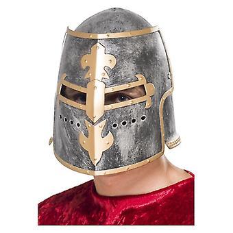 Mens mittelalterlichen Kreuzritter Helm Fancy Dress Zubehör